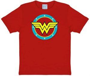 Camiseta de logo rojo de Wonder Woman - Las mejores camisetas de Wonder Woman - Camiseta de Wonder Woman de DC