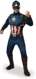 Disfraz de Capitán América para adultos Multitalla 2 - Los mejores disfraces de Capitán América - Disfraz de Capitán América de Marvel
