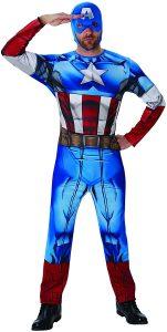 Disfraz de Capitán América para adultos Multitalla 3 - Los mejores disfraces de Capitán América - Disfraz de Capitán América de Marvel