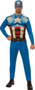 Disfraz de Capitán América para adultos Multitalla - Los mejores disfraces de Capitán América - Disfraz de Capitán América de Marvel