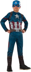 Disfraz de Capitán América para niños 8-10 años - Los mejores disfraces de Capitán América - Disfraz de Capitán América de Marvel