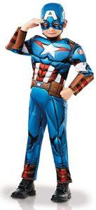 Disfraz de Capitán América para niños Multitalla 2 - Los mejores disfraces de Capitán América - Disfraz de Capitán América de Marvel