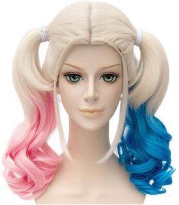Disfraz de Harley Quinn - Peluca de Harley Quinn