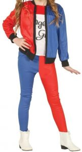 Disfraz de Harley Quinn clásica para niñas Multitalla 4 - Los mejores disfraces de Harley Quinn - Disfraz de Harley Quinn de DC