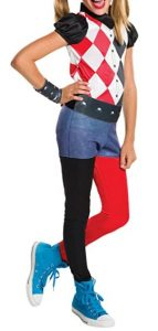 Disfraz de Harley Quinn clásica para niñas Multitalla - Los mejores disfraces de Harley Quinn - Disfraz de Harley Quinn de DC