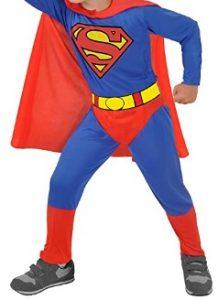 Disfraz de Superman para niños 7-8 años clásico - Los mejores disfraces de Superman - Disfraz de Superman de DC