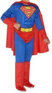 Disfraz de Superman para niños 8-10 años Justice League - Los mejores disfraces de Superman - Disfraz de Superman de DC