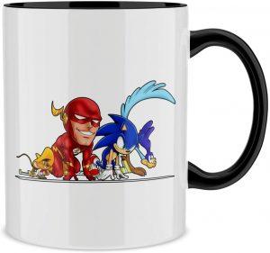 Taza de Flash Sonic el Correcaminos y Speedy Gonzales - Las mejores tazas de Flash - Tazas de DC