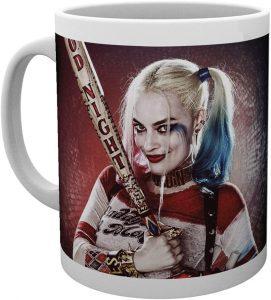 Taza de Harley Quinn con bate de Escuadrón Suicida - Las mejores tazas de Harley Quinn - Tazas de DC