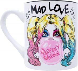 Taza de Harley Quinn de Mad Love Glitter - Las mejores tazas de Harley Quinn - Tazas de DC