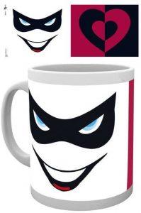 Taza de Harley Quinn máscara - Las mejores tazas de Harley Quinn - Tazas de DC