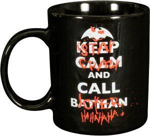 Taza de Keep Calm and Call Batman - Las mejores tazas de Batman - Tazas de DC