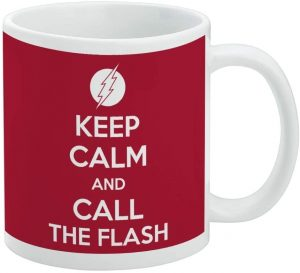 Taza de Keep Calm and Call The Flash - Las mejores tazas de Flash - Tazas de DC