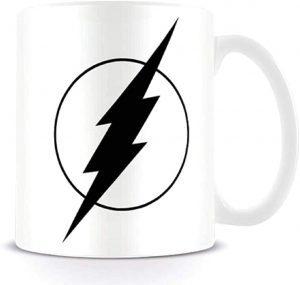 Taza de logo byn de Flash - Las mejores tazas de Flash - Tazas de DC