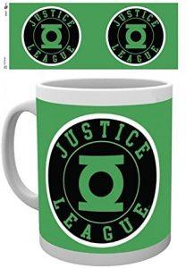 Taza de logo de Linterna Verde Justice League - Las mejores tazas de Green Lantern - Tazas de DC