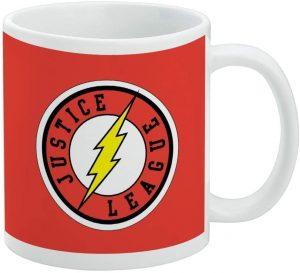Taza de logo de The Flash JL - Las mejores tazas de Flash - Tazas de DC