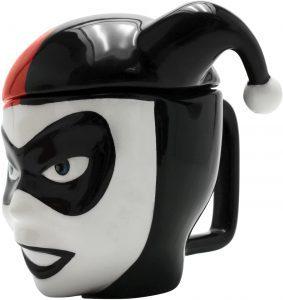 Taza de máscara clásica de Harley Quinn - Las mejores tazas de Harley Quinn - Tazas de DC